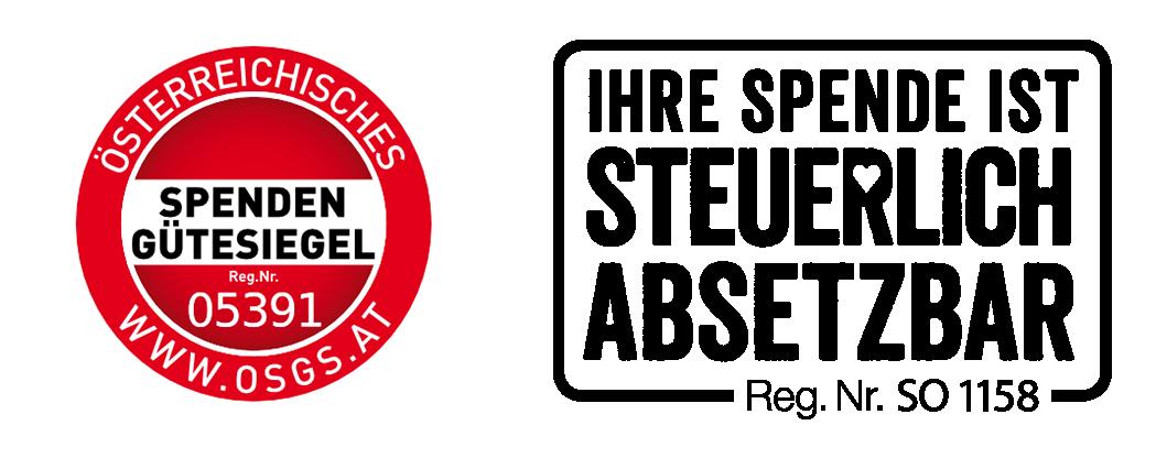 Spendengütesiegel und Logo Spendenabsetzbarkeit