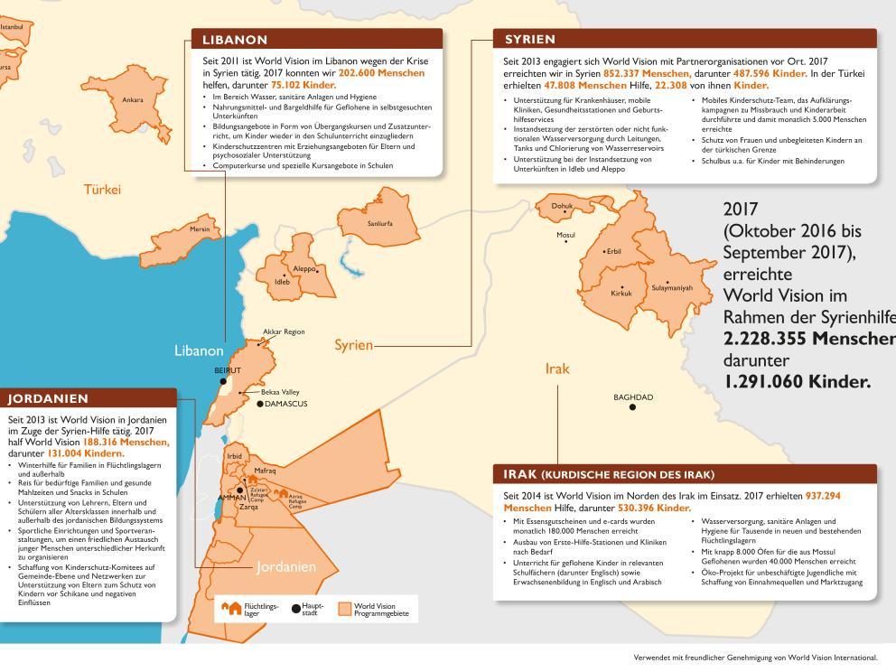 Syrien Irak Karte.Syrische Flüchtlinge So Helfen Wir Worldvision At